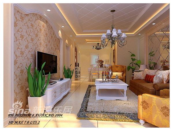 欧式 三居 客厅图片来自用户2557013183在136平简约欧式风情家99的分享