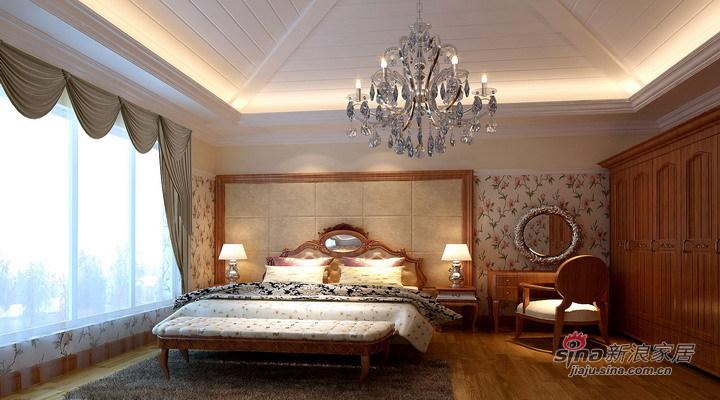 欧式 复式 卧室图片来自用户2746889121在16万打造地中海阳光237平简欧复式63的分享