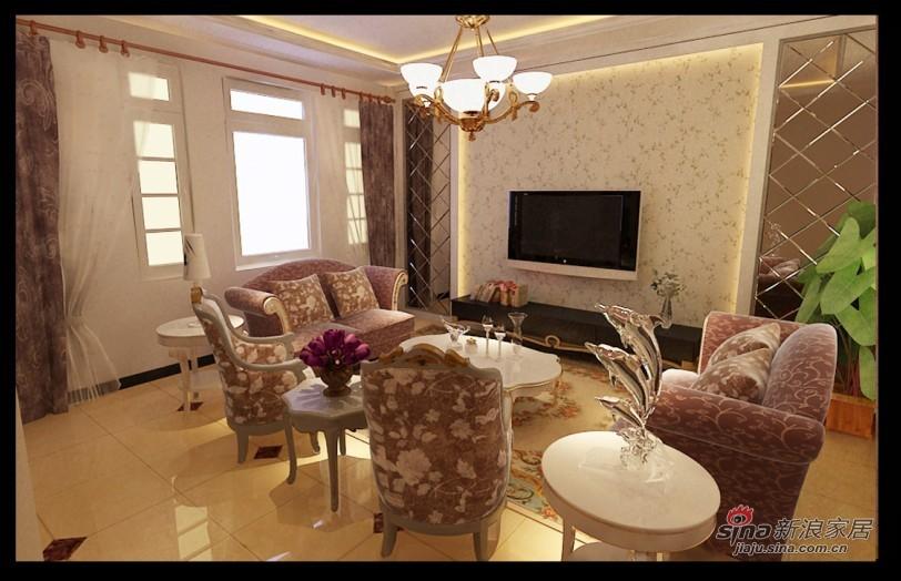 欧式 别墅 客厅图片来自用户2557013183在13万完美混搭200平经典简欧范25的分享