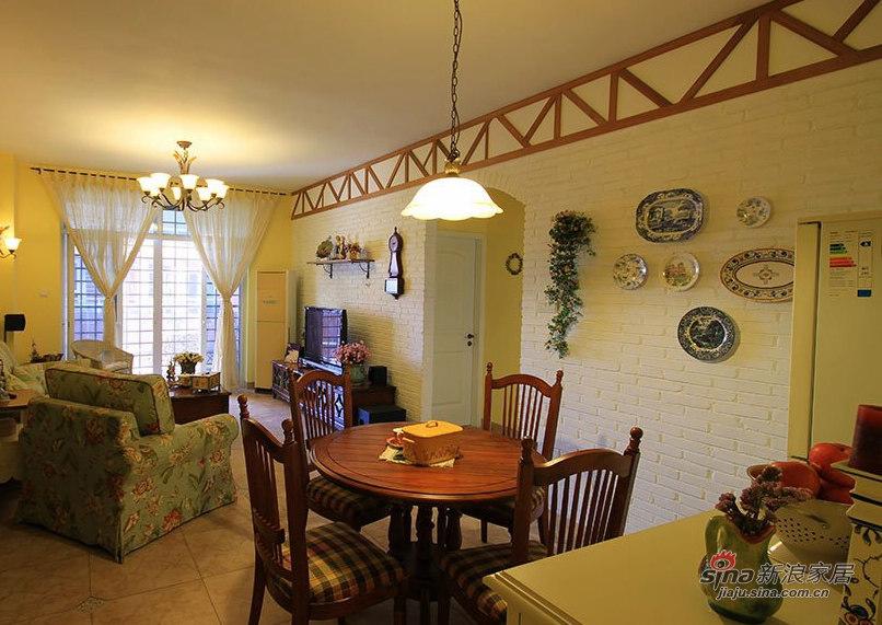 田园 三居 餐厅图片来自用户2557006183在88平花18万打造英式乡村屋31的分享