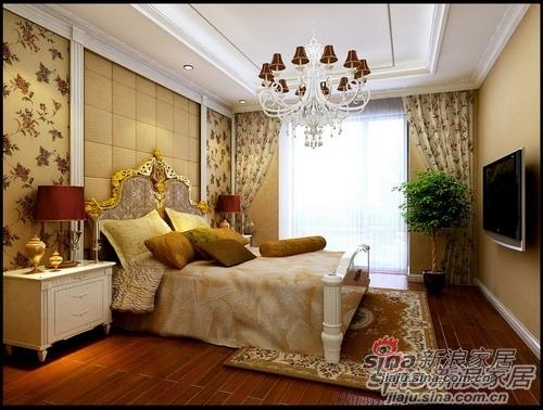 简约 三居 卧室图片来自用户2559456651在8万8打造甜蜜欧式3居室·温情家居13的分享
