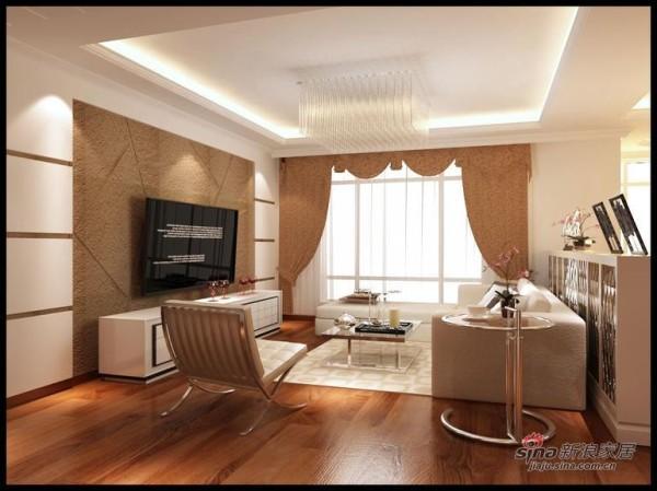 暖色调打造兰亭都荟三居室装修设计