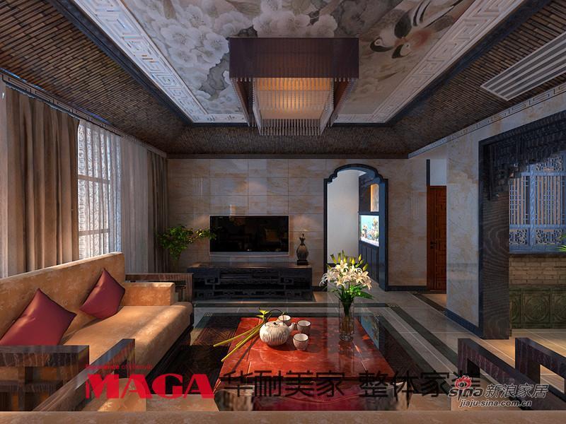 中式 别墅 客厅图片来自用户1907658205在50万打造290平高端现代新中式别墅53的分享