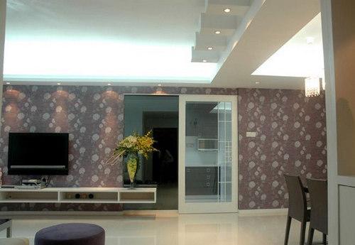 简约 三居 客厅图片来自用户2738093703在132平米薰衣草清新家居3居室63的分享