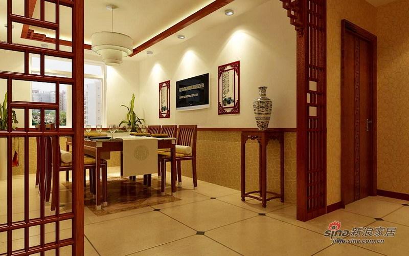 中式 三居 餐厅图片来自用户1907662981在7.1万精装150㎡中式古典36的分享