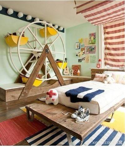 创意书房,创意卧室。