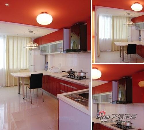 厨柜选用大气时尚的红色
