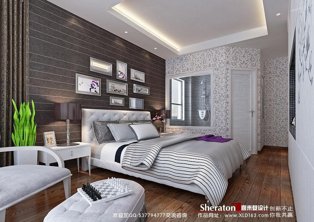 简约 三居 卧室图片来自用户2739081033在【高清】玩转简约潮流4室2厅设计34的分享