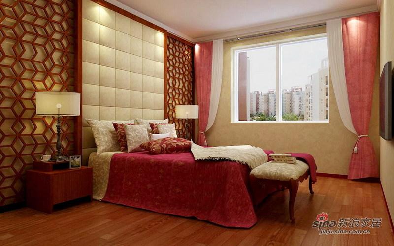 中式 三居 卧室图片来自用户1907662981在7.1万精装150㎡中式古典36的分享