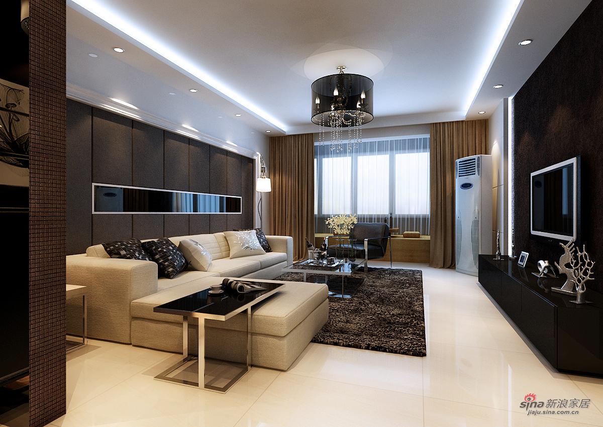 混搭 二居 客厅图片来自用户1907655435在天津实创装饰-现代混搭41的分享