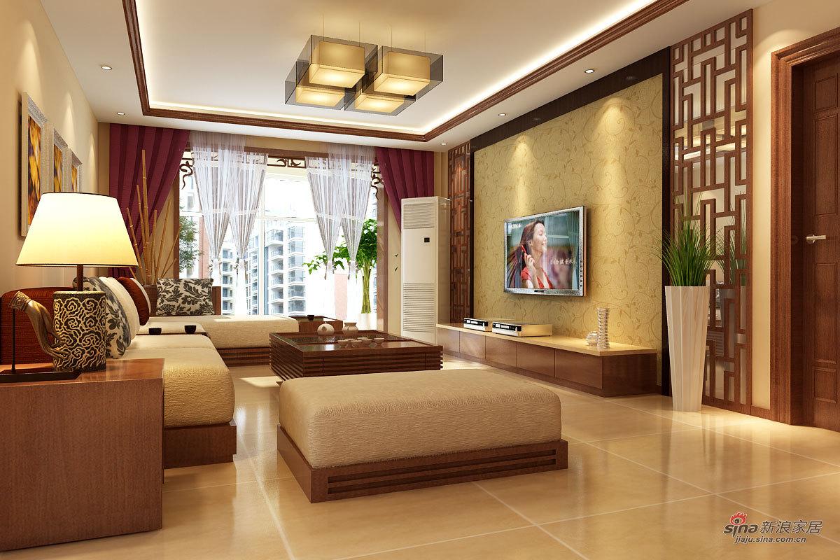 中式 三居 客厅图片来自用户1907662981在95平新中式风格设计98的分享