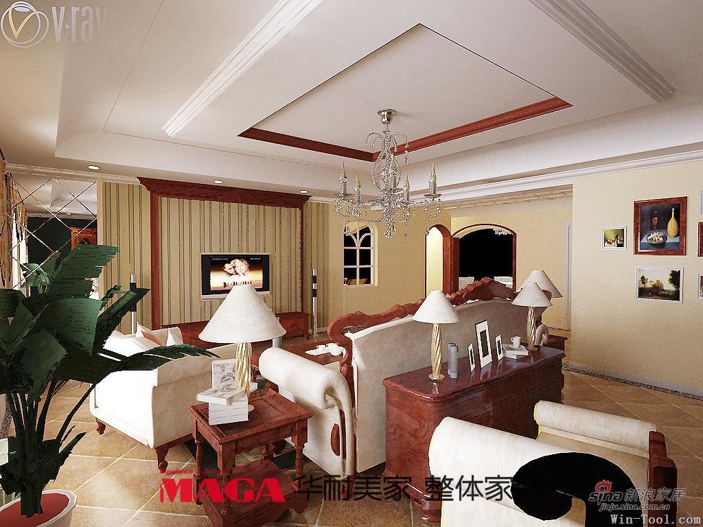 美式 四居 客厅图片来自用户1907686233在现代与美式的完美结合56的分享