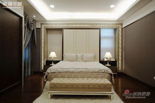 美式 三居 卧室图片来自幸福空间在纯粹质调 流露奢华内敛风采18的分享
