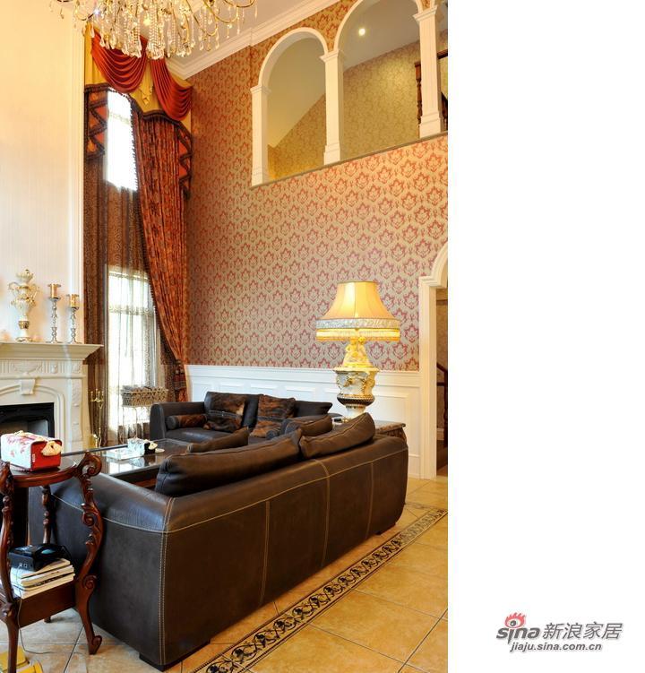 混搭 别墅 客厅图片来自用户1907689327在东方普罗旺斯300平混搭无限风54的分享