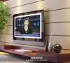 采用艺术砖的电视墙