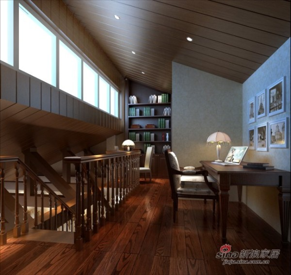 欧美式风格楼梯处设计