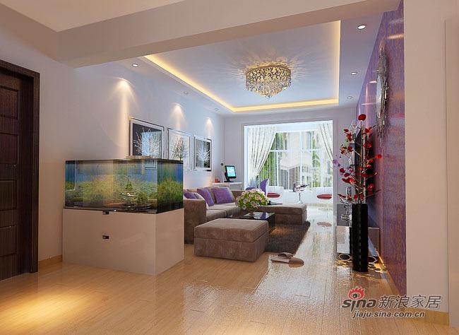 简约 二居 客厅图片来自用户2738820801在6.9W营造一种婉约的生活【润园翡翠城 120平】88的分享