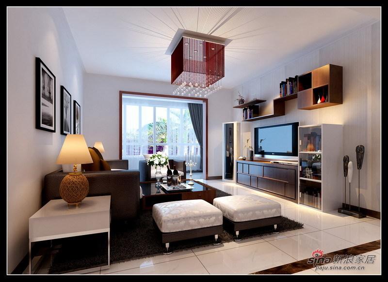 简约 三居 客厅图片来自用户2737786973在110平时尚简约3居花6.6万31的分享