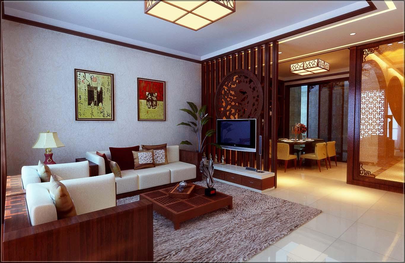 中式 三居 客厅图片来自用户1907659705在6万精装100平优雅新中式11的分享