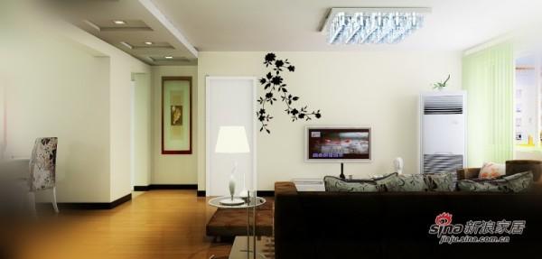 过道及电视背景墙