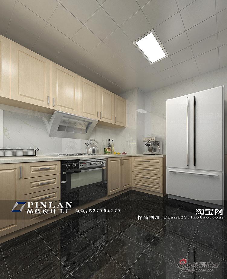 简约 四居 厨房图片来自用户2739378857在【高清】16万装149平锦绣华城现代简约99的分享