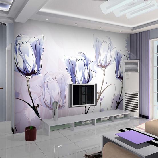 大型壁画 奔放 客厅电视背景墙壁纸