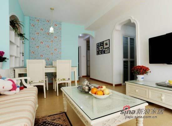 田园 三居 客厅图片来自用户2737946093在7万打造84平米花式田园屋47的分享