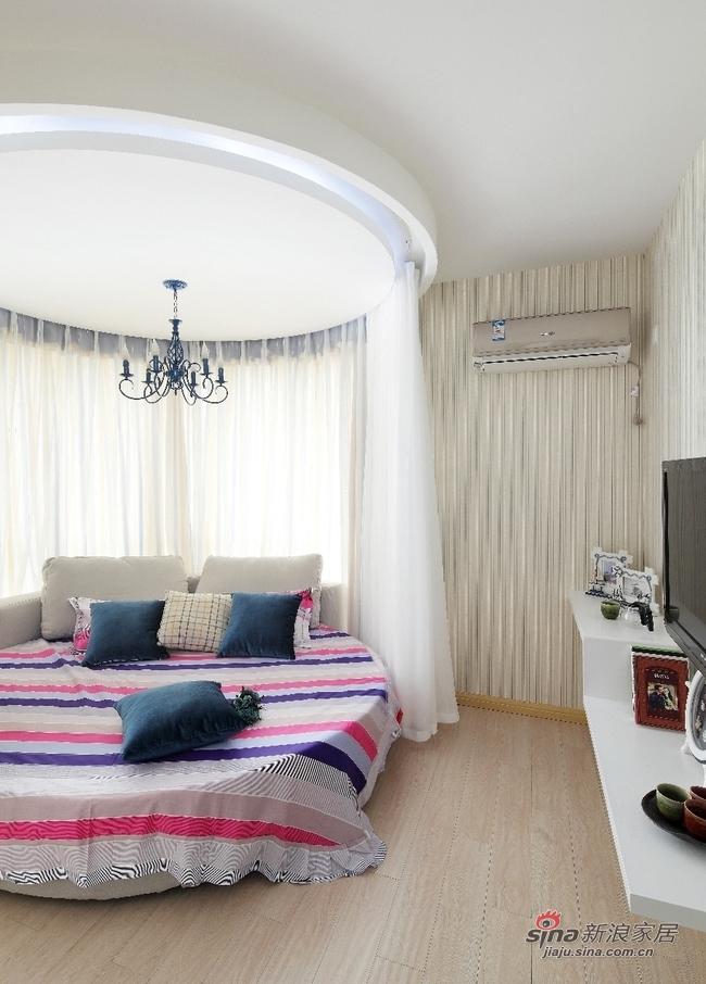 地中海 二居 卧室图片来自用户2757320995在巧手两居室地中海风格84的分享