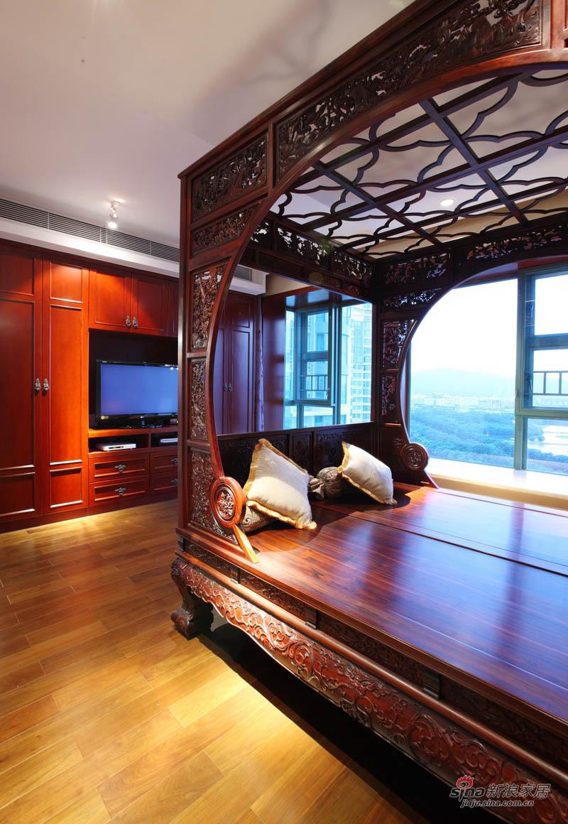 新古典 三居 卧室图片来自用户1907701233在220平简约中式高雅三居 传统文化的捕捉88的分享