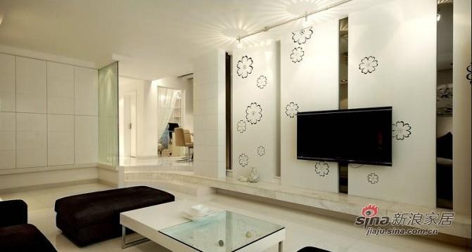简约 二居 客厅图片来自用户2737950087在6万巧装现代简约的90平爱家88的分享