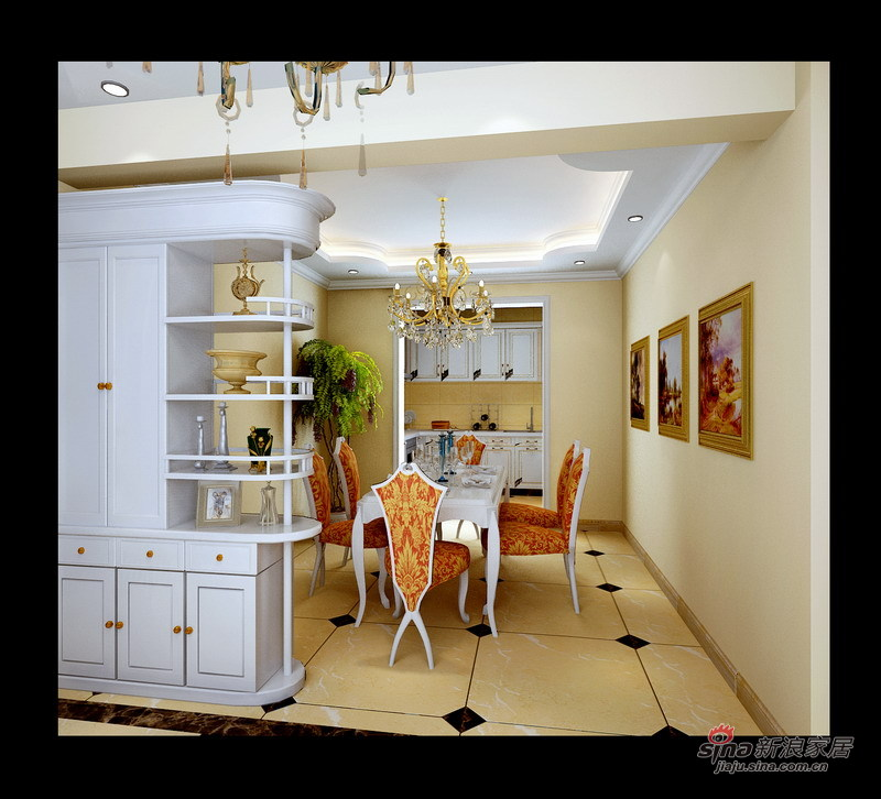 """欧式 三居 客厅图片来自用户2772873991在""""简洁自然""""-欧式设计74的分享"""