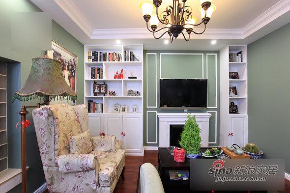 美式 二居 客厅图片来自用户1907686233在80后小夫妻100平美式小2居24的分享