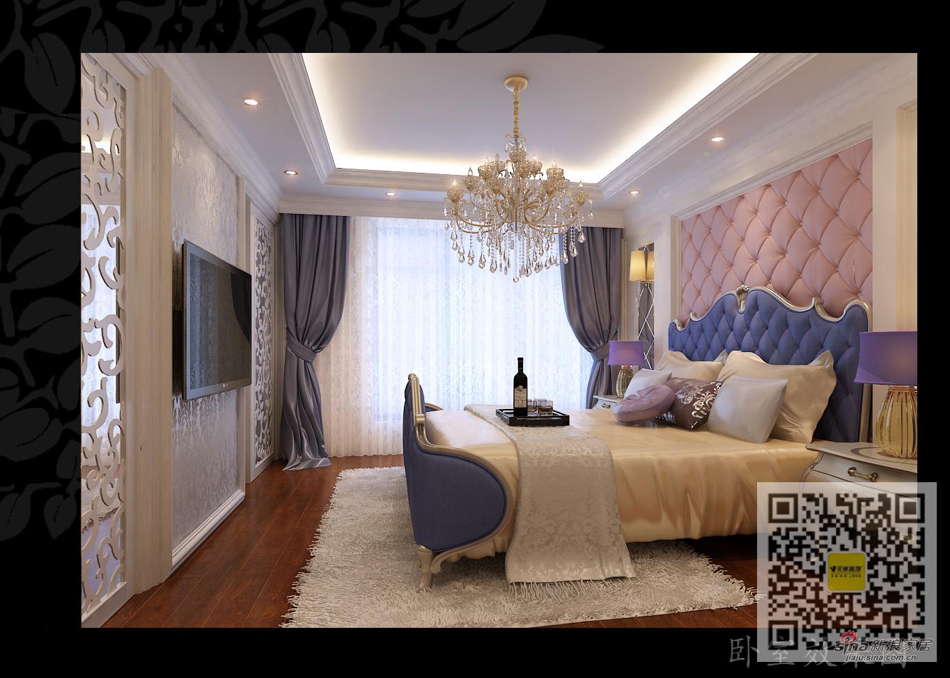 欧式 三居 卧室图片来自用户2746953981在芭蕾雨.悦都简欧风格LOFt88的分享