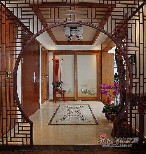 中式 四居 玄关图片来自用户1907661335在【多图】240平米大宅中式风情91的分享