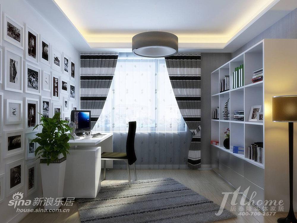 简约 三居 书房图片来自用户2737735823在游走于黑白之间 纯正简约风格清爽家居方案61的分享