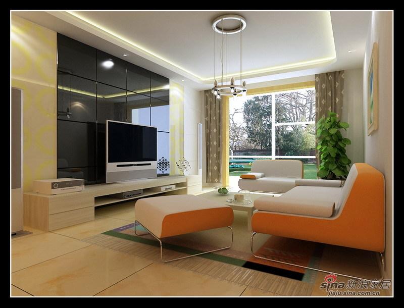 简约 一居 客厅图片来自用户2556216825在水木天成95平自然简约2居室26的分享