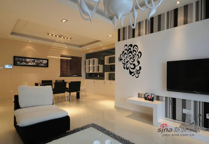 现代 三居 客厅图片来自用户2771250253在120平现代简约三居室36的分享