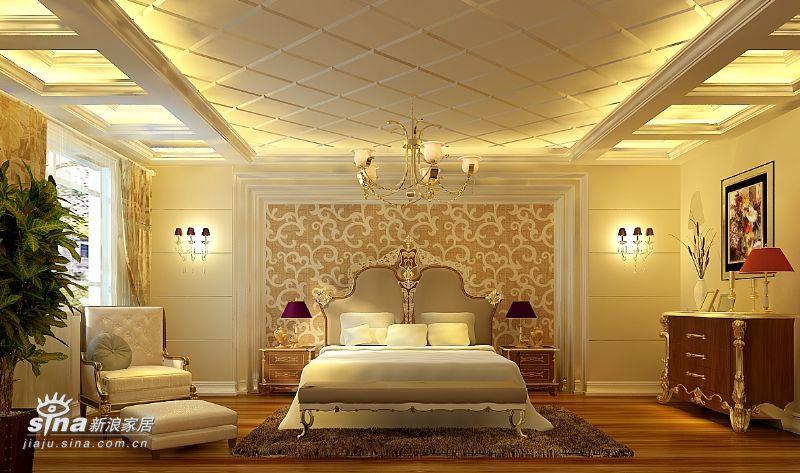 欧式 别墅 卧室图片来自用户2746869241在欧式实景别墅68的分享