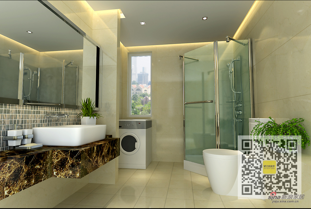 欧式 三居 卫生间图片来自用户2746948411在浮华背后的简欧风格三居室44的分享