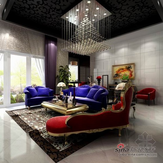欧式 别墅 客厅图片来自用户2757317061在低调奢华新古典别墅93的分享