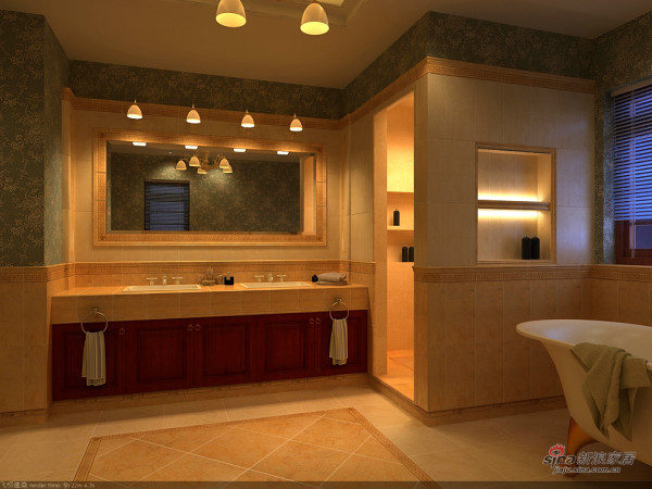 欧式 四居 卫生间图片来自用户2745758987在【高清】奢华主义欧式风格77的分享