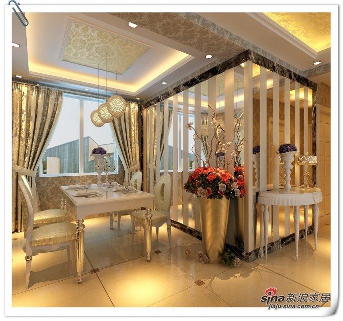 欧式 三居 餐厅图片来自用户2772873991在10万精装165平欧式奢华高雅三居81的分享