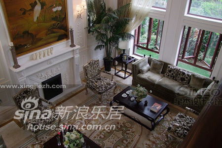 欧式 别墅 客厅图片来自用户2746953981在绿州比华利91的分享