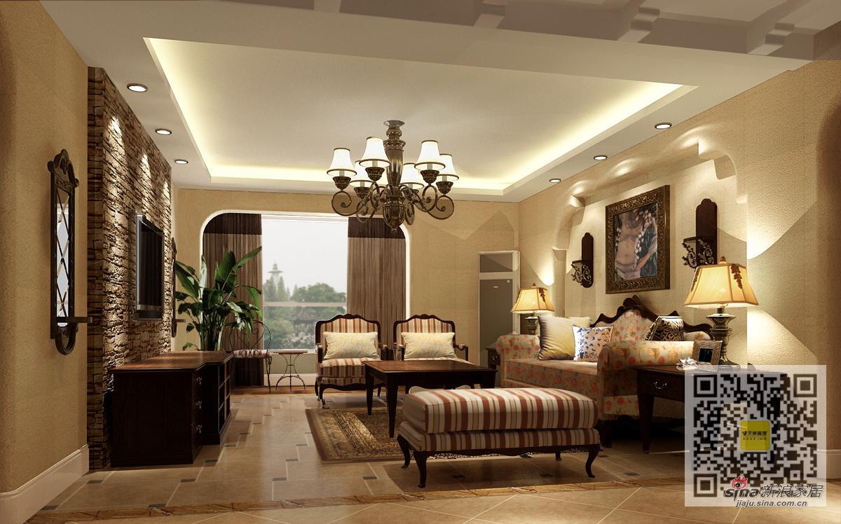 美式 三居 客厅图片来自用户1907686233在美式风格装修设计案例12的分享