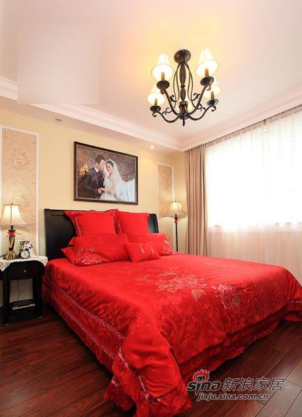 美式 二居 卧室图片来自用户1907686233在80后小夫妻100平美式小2居24的分享