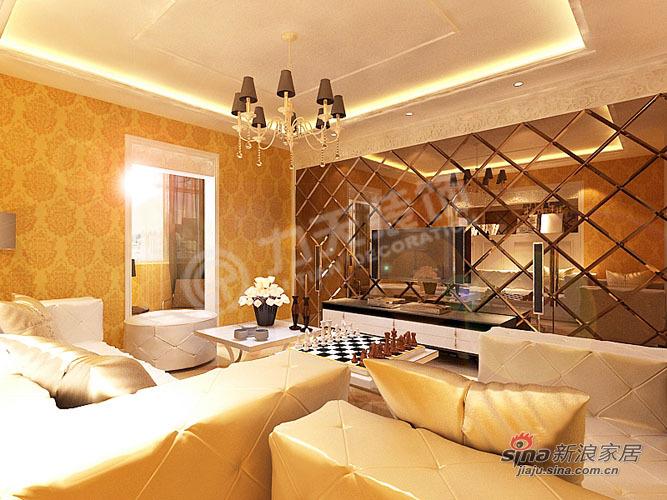 欧式 二居 客厅图片来自阳光力天装饰在102平华城领秀欧式两居85的分享