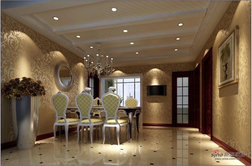 欧式 三居 餐厅图片来自用户2745758987在140平米简欧设计舒适大方家居40的分享