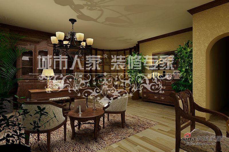 美式 别墅 客厅图片来自用户1907685403在美式乡村别墅案例赏析35的分享