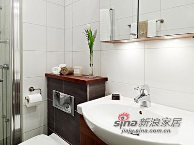 欧式 其他 卫生间图片来自用户2746889121在50平清雅简约白色单身公寓46的分享