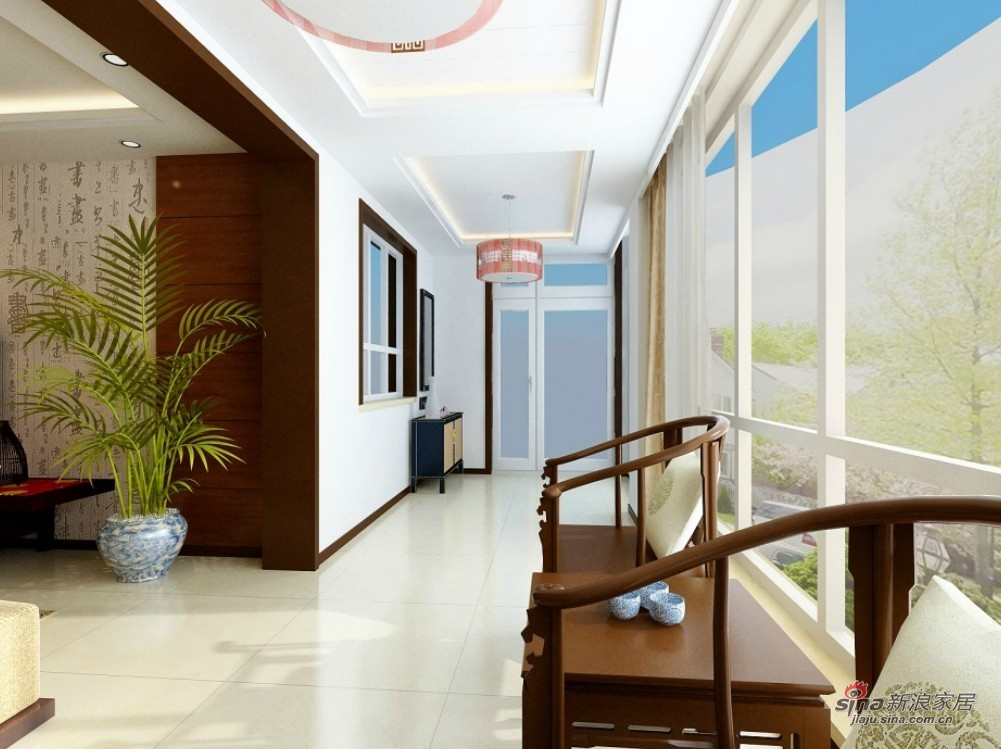 中式 二居 阳台图片来自用户1907696363在简约中式风格·打造不凡品味家居62的分享